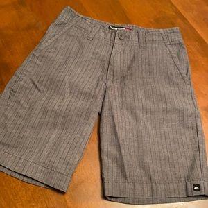 Quicksilver boys size 24 gray striped shorts